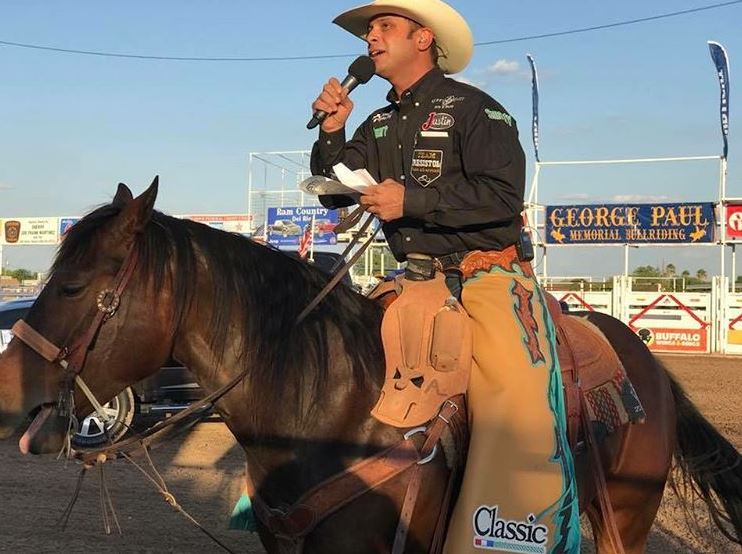 Rodeo announcer, Anthony Lucia as featured on the Jesus Calling podcast