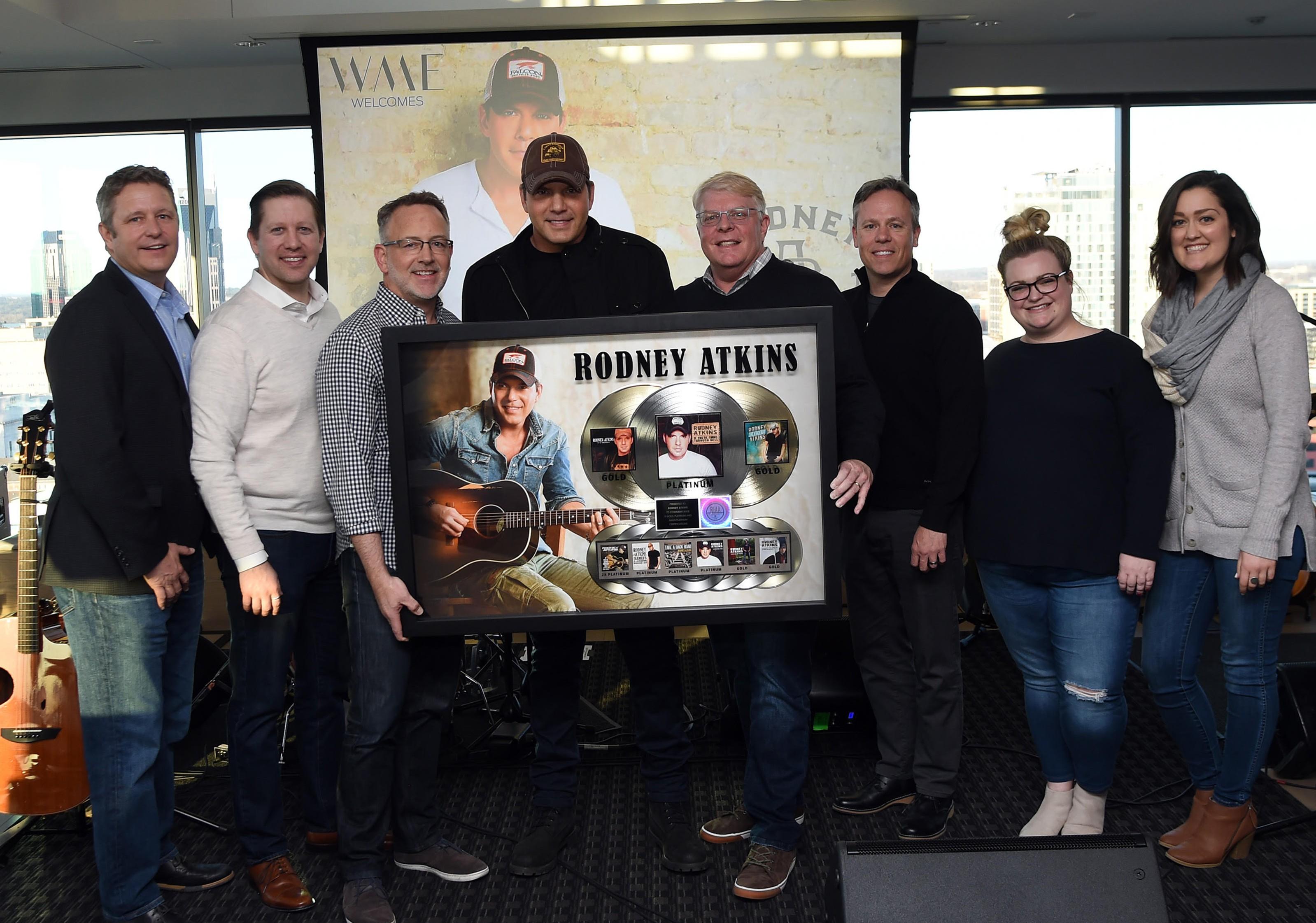Rodney Atkins platinum plaque presentation