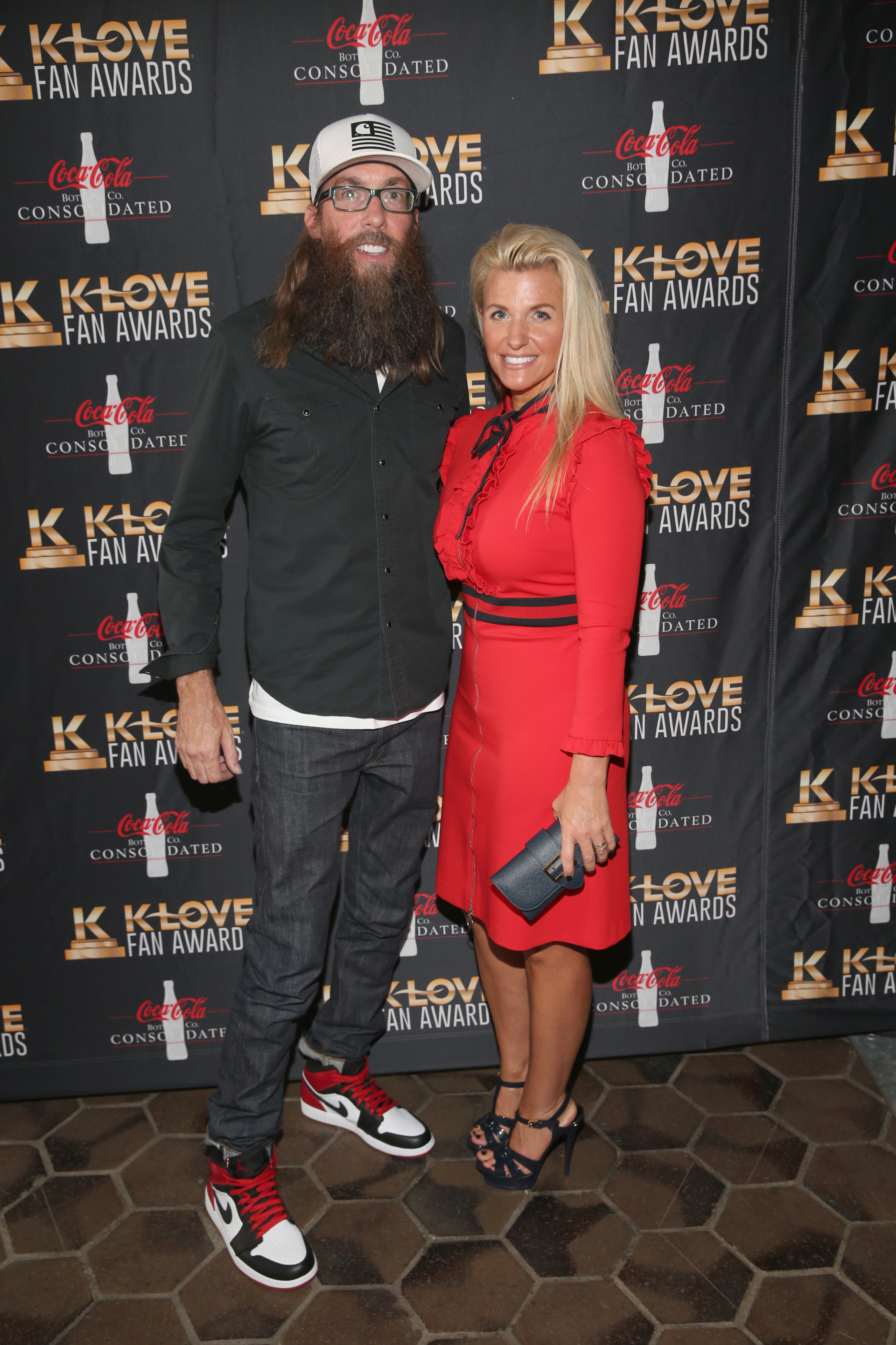 NASHVILLE, TN - MAY 28: Crowder (L) arrives at the 5th Annual KLOVE Fan Awards at The Grand Ole Opry on May 28, 2017 in Nashville, Tennessee. (Photo by Terry Wyatt/Getty Images for KLOVE)