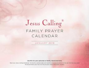 FREE Jesus Calling Family Prayer Calender