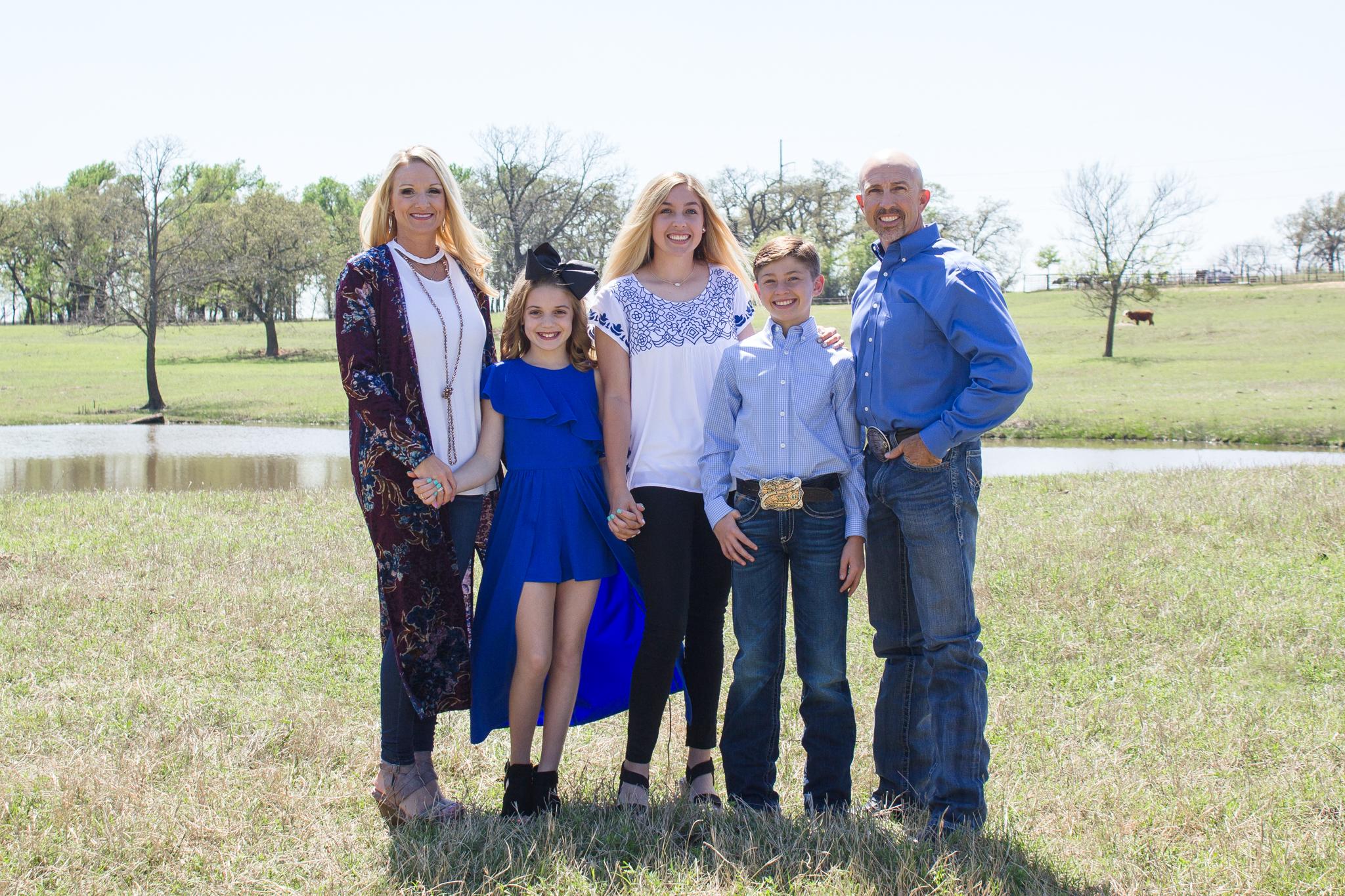 Trey Johnson and his family