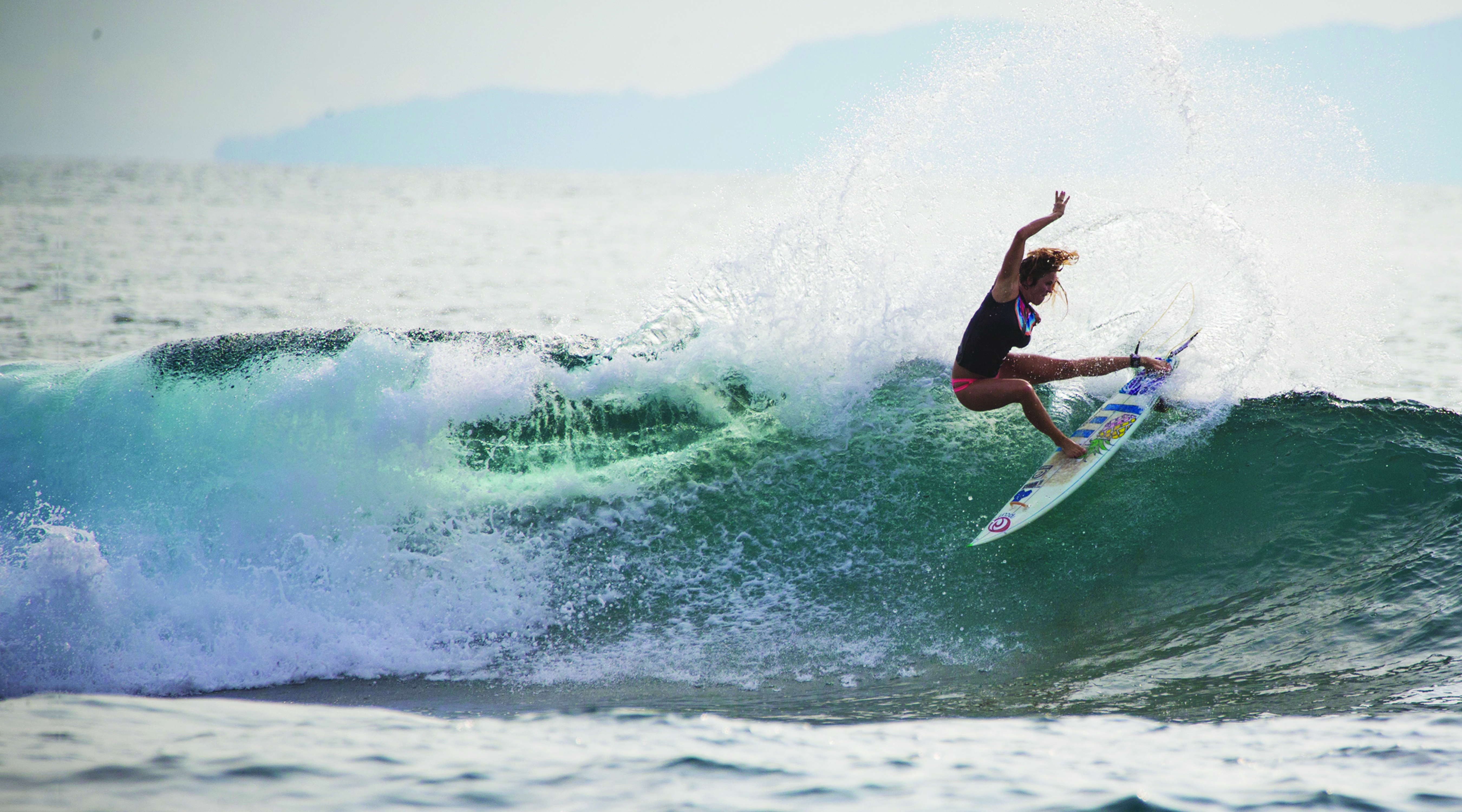 Bethany Hamilton surfing a 360 turn....as featured on the Jesus Calling podcast