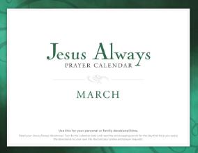 Jesus Always Prayer Calendar