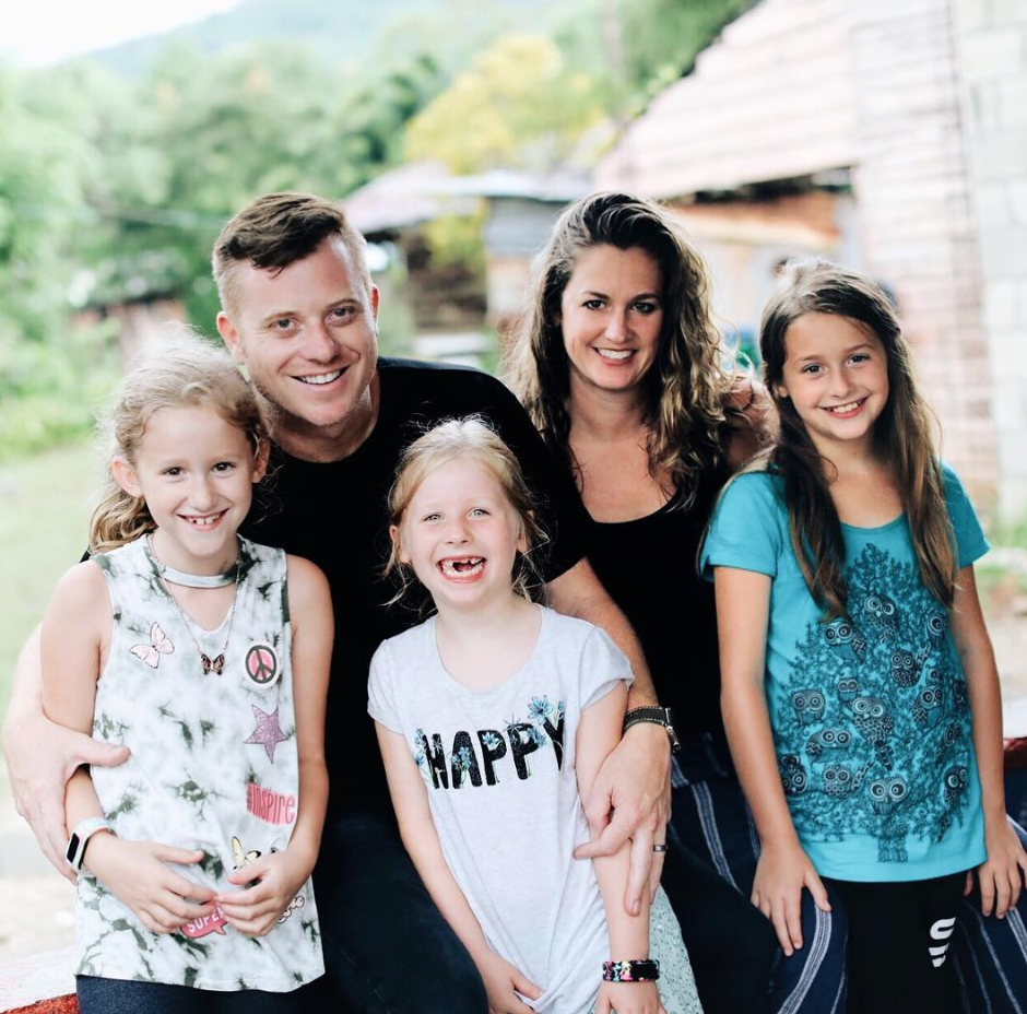 Author and Pastor Darren Whitehead, his wife and family
