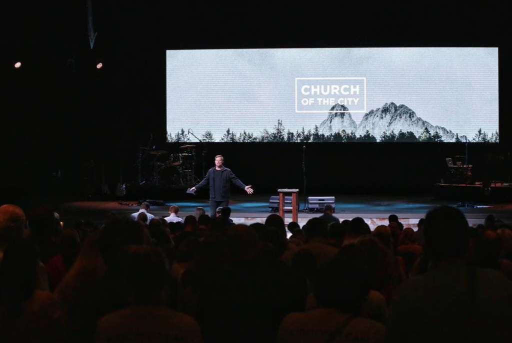Darren Whitehead preaching at Church of the City