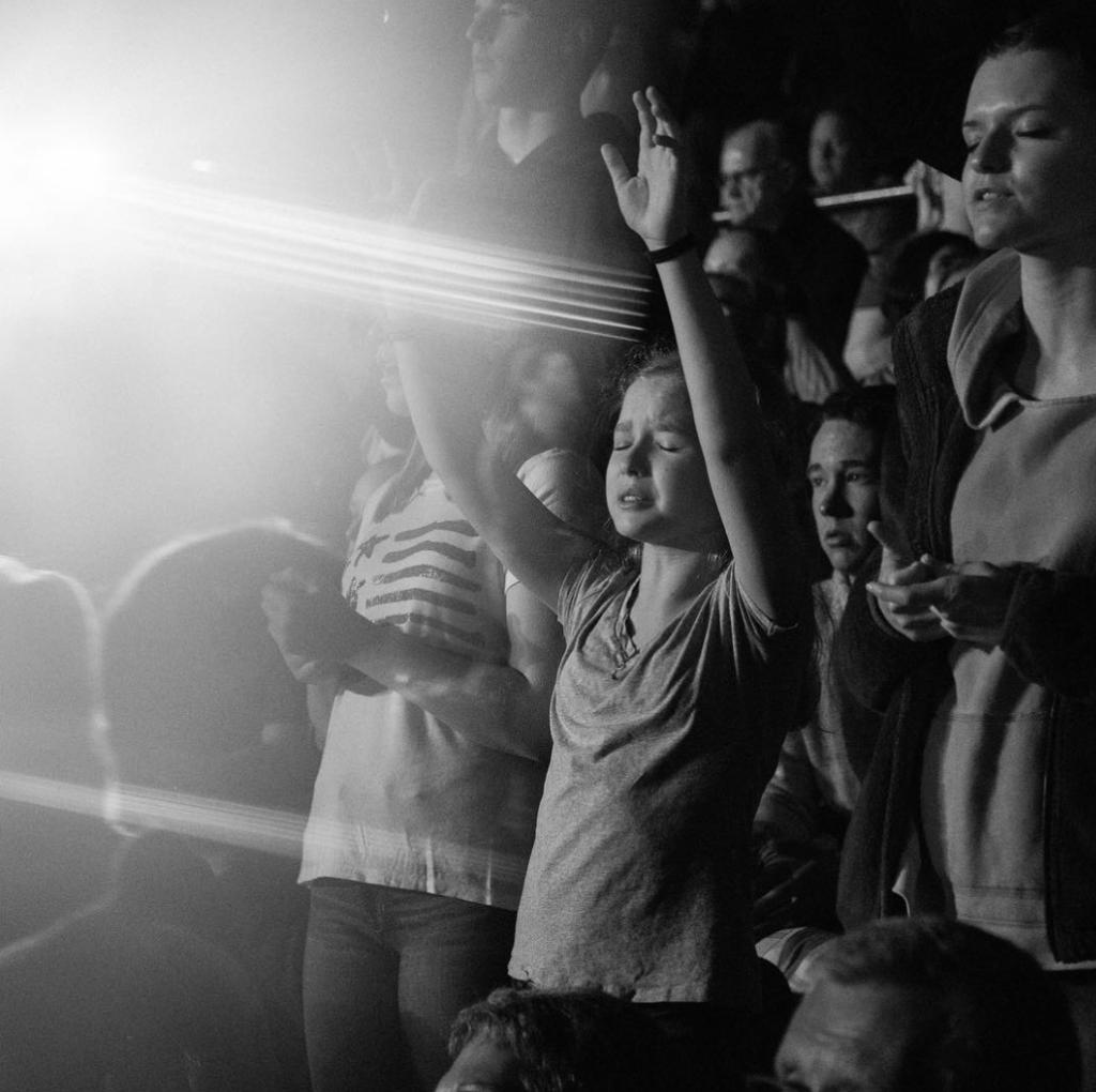 Kids praising our Lord during Chris Tomlin concert