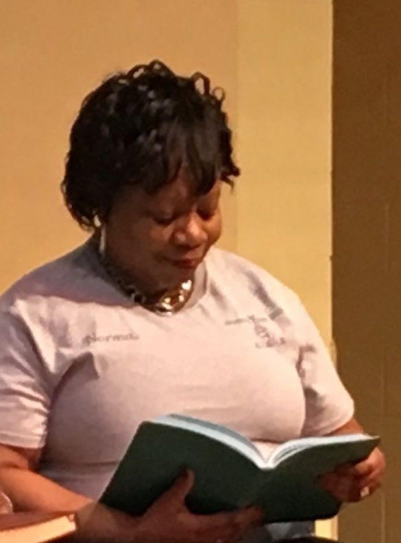 "Norma Brown sharing a passage from the Jesus Calling devotional during Brookland Baptist Church's Women's Day 2019. Norma says, ""When I read, it's like Jesus is really talking to me, like He's in the room with me. And to feel that comfort, I thought it would be amazing to allow other women to feel the same thing."""