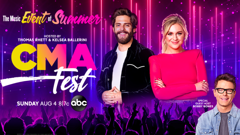 As promoted on the Jesus Calling podcast; CMA Fest is proud to present a three-hour country music special hosted by Thomas Rhett and Kelsea Ballerini, with special guest host Bobby Bones, Sunday, August 4th at 8:00 PM /7:00 PM Central.