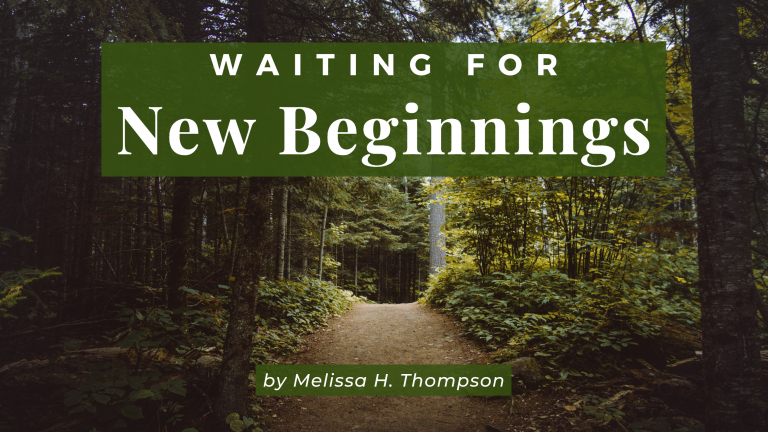 Blog cover photo for Melissa Thompson's blog Wait for New Beginnings on the Jesus Calling Blog page