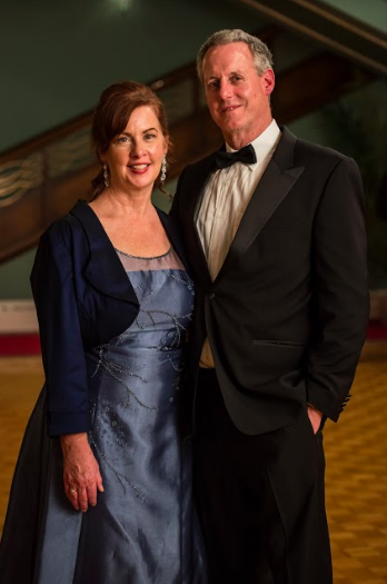 Novelist Rachel Hauck and husband at the Once Upon a Prince made for Hallmark release (featured on the Jesus Calling podcast)