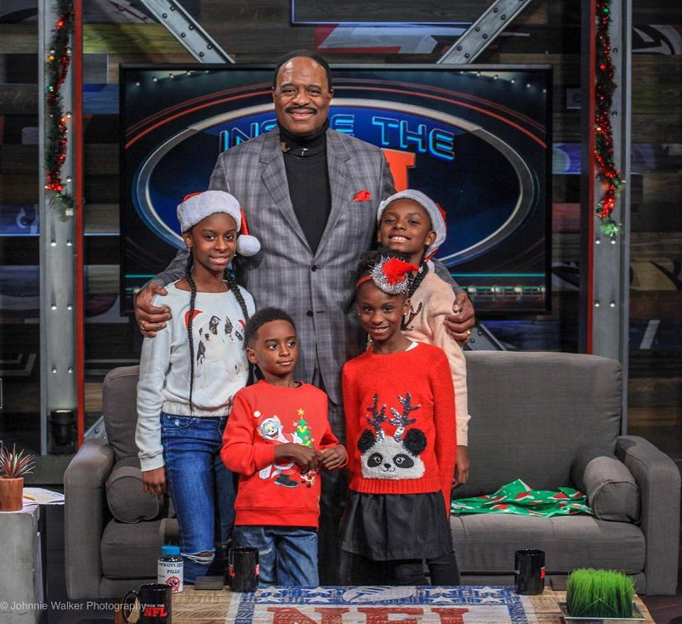 CBS Sportscaster James Brown and grandchildren (as highlighted on the Jesus Calling podcast)