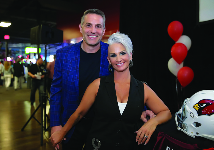NFL Hall of Fame quarterback Kurt Warner and his wife as featured on the Jesus Calling podcast