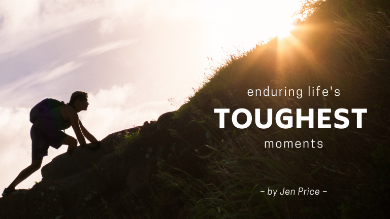 Jen Price writes blog for Jesus Calling called Enduring Life's Toughest moments