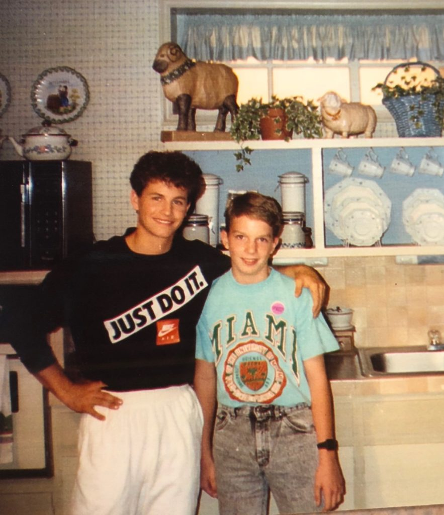Young Brandon Lane Phillips with Kirk Cameron (Jesus Calling podcast #171