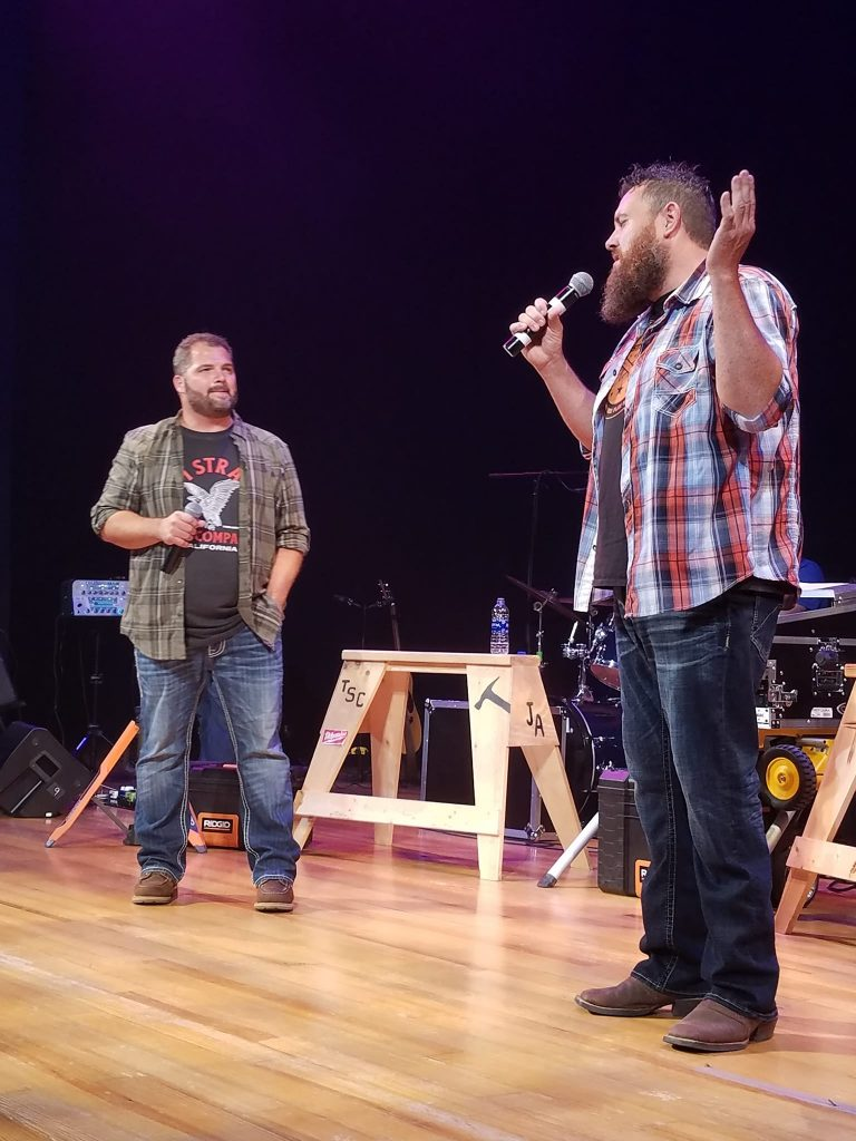 The Singing Contractors ON STAGE (Josh Arnett & Aaron Gray) as featured on the Jesus Calling podcast episode #171