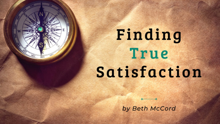 Cover image of the Jesus Calling blog Finding True Satisfaction by Beth McCord