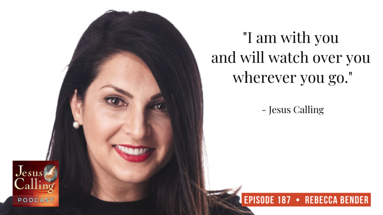 Jesus Calling podcast #187 featuring human trafficking survivor, author & advocate - Rebecca Bender thumbnail image