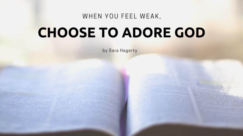 Sara Hagerty blog on Jesus Calling Choose to Adore God