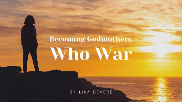 Lisa Bevere's blog cover photo of Becoming Godmothers Who War