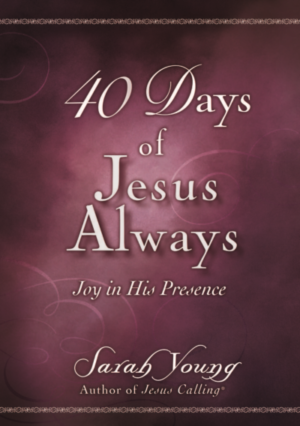 40 Days of Jesus Always Joy in His Presence front facing cover
