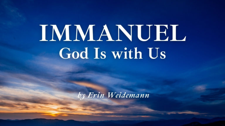 Immanuel: God Is With Us blog cover image for Jesus Calling blog cover page