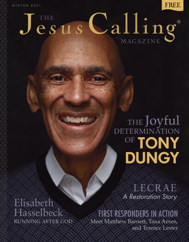 Jesus Calling Magazine issue 6 cover with Tony Dungy