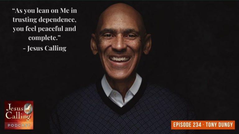 Jesus Calling podcast #234 featuring Tony Dungy & Sam Acho - Thumbnail image
