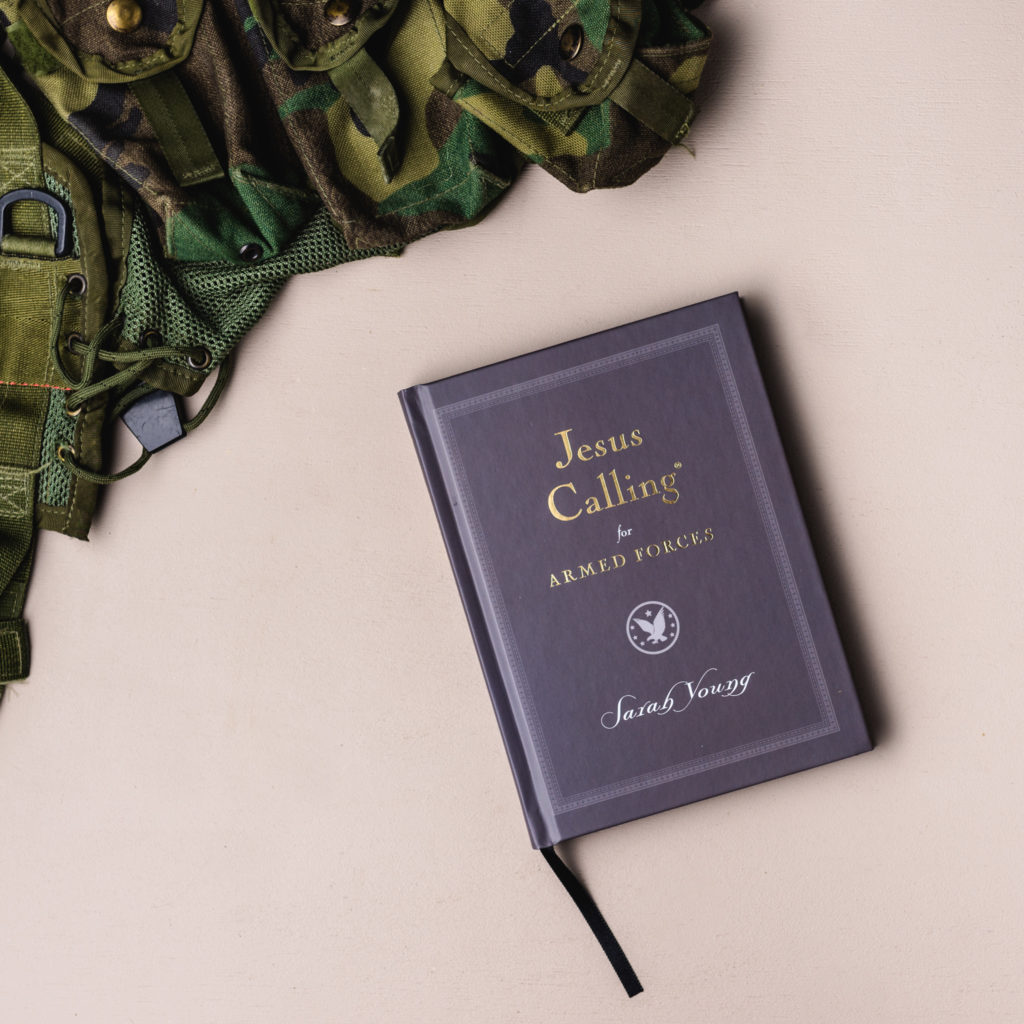 Jesus Calling podcast #236 featuring the Jesus Calling for Armed Forces devotional