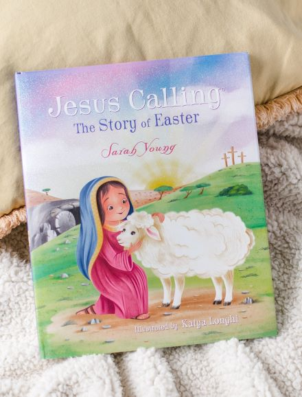Jesus Calling The story of easter on a blanket