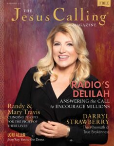 Jesus Calling Magazine cover for Spring 2021 with Delilah