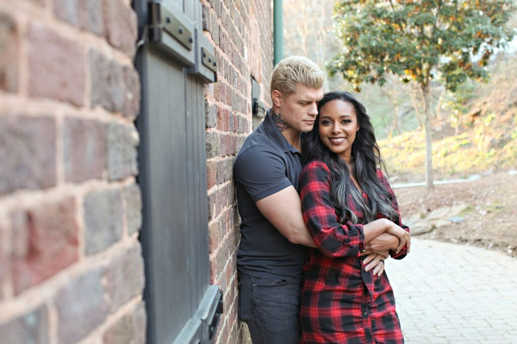 Jesus Calling podcast 254 featuring All Elite Wrestling star Brandi Rhodes - shown here with her husband Cody Rhodes