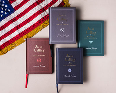 Jesus Calling podcast - featuring the Jesus Calling Devotional for First Responders