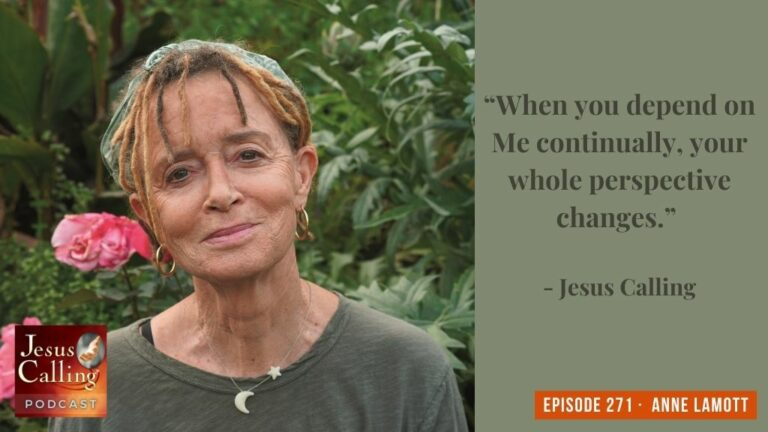 Jesus Calling podcast 271 featuring Anne Lamott & Tabitha Brown - thumbnail image with text